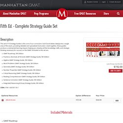 Fourth Ed. - The 8 Manhattan GMAT Strategy Guides