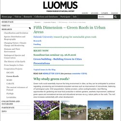 Fifth Dimension – Green Roofs in Urban Areas