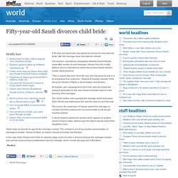 Fifty-year-old Saudi divorces child bride