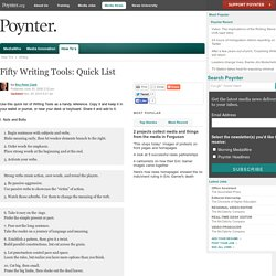 Fifty Writing Tools: Quick List