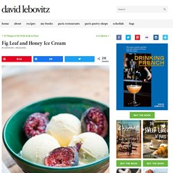Fig Leaf and Honey Ice Cream