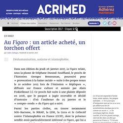 Au Figaro : un article acheté, un torchon offert