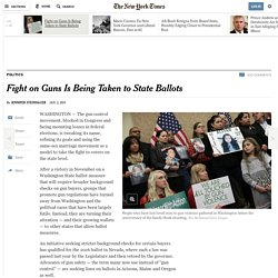 Fight on Guns Is Being Taken to State Ballots