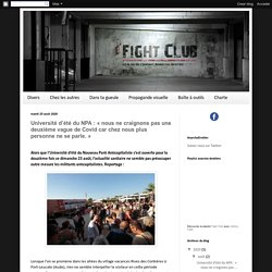 Fight Club - le blog du Courant Anarcho-Droitier du NPA