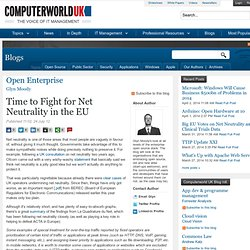 Time to Fight for Net Neutrality in the EU