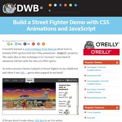Build a Street Fighter Demo with CSS Animations and JavaScript