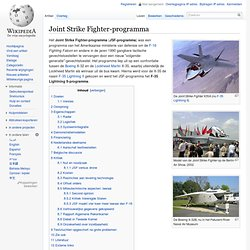 Joint Strike Fighter-programma