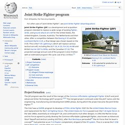 Joint Strike Fighter program