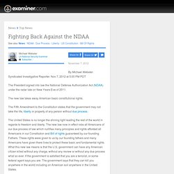 Fighting Back Against the NDAA - Los Angeles LA
