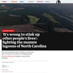 'It's wrong to stink up other people's lives': fighting the manure lagoons of North Carolina