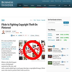 Flickr Is Fighting Against Copyright Theft On Pinterest