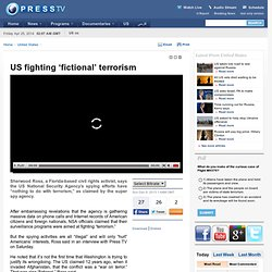 US fighting 'fictional' terrorism