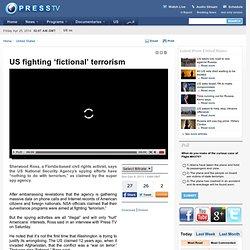 US fighting 'fictional' terrorism