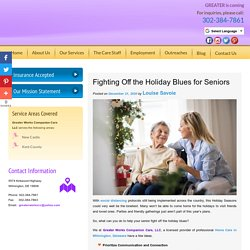 Fighting Off the Holiday Blues for Seniors