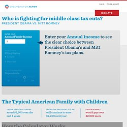 Who is fighting for the middle class? President Obama versus Mitt Romney.