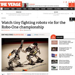 Watch tiny fighting robots vie for the Robo-One championship