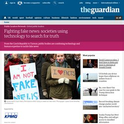 Fighting fake news: societies using technology to search for truth