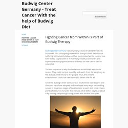 Fighting Cancer from Within is Part of Budwig Therapy