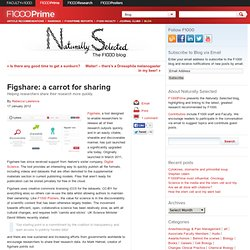 Figshare: a carrot for sharing - Helping researchers share their research more quickly.