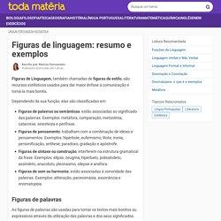 Figuras de linguagem: resumo e exemplos