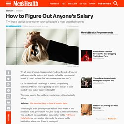 How to Figure Out Anyone's Salary