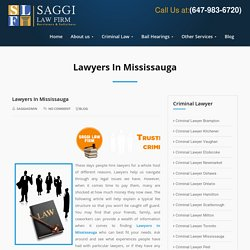 Figure Out What Kind Of Lawyers In Mississauga You Need