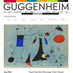 Joan Miró. Figure, Dog, Birds (Personnage, Chien, Oiseaux). 1946