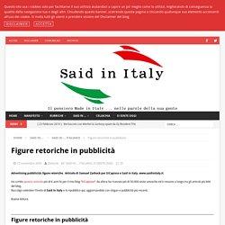 Figure retoriche in pubblicità - Said in Italy
