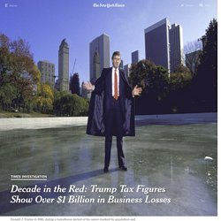 Decade in the Red: Trump Tax Figures Show Over $1 Billion in Business Losses