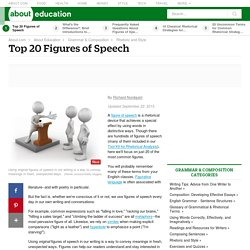 Top 20 Figures of Speech - Figurative Language - Definitions and Examples of Figures of Speech