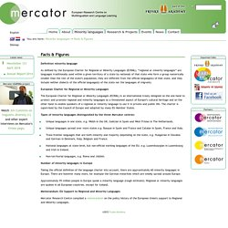 Facts & Figures - Mercator Research Centre