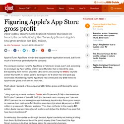 Figuring Apple's App Store gross profit | Apple