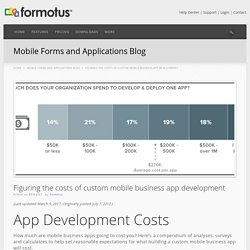 Figuring the costs of mobile app development