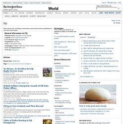The New York Times - Fiji News
