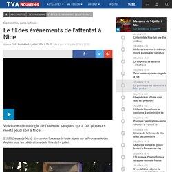 Le fil des événements de l'attentat à Nice