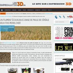 Lesimprimantes3D.fr - Filament de paille de céréale
