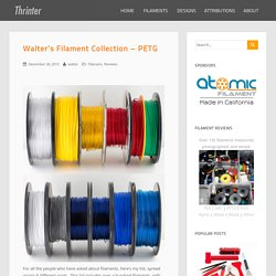 Walter's Filament Collection - PETG - Thrinter
