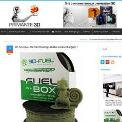 Un filament écologique pour imprimante 3D à base d'algues