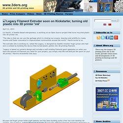 Legacy Filament Extruder soon on Kickstarter, turning old plastic into 3D printer 'ink'