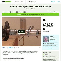 Desktop Plastic Extrusion System for Everyone by Edward Clifford