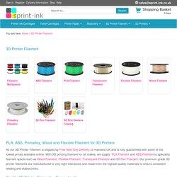 3D Printer Filament – PLA, ABS and Specialist Filaments