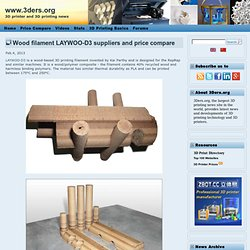 Wood filament LAYWOO-D3 suppliers and price compare