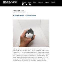 Flex filaments — HackSpace magazine