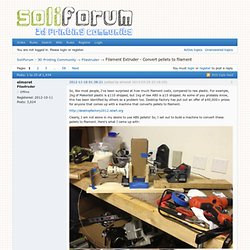 Filament Extruder - Convert pellets to filament (Page 1) — Projects — SoliForum - 3D Printing Community