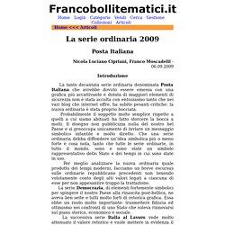 Filatelia Tematica - La serie ordinaria Posta italiana