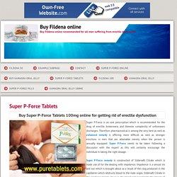 Fildena50 - Super P-Force Tablets