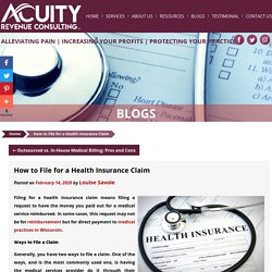 How to File for a Health Insurance Claim