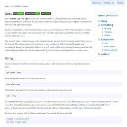 File: README — Sass Documentation