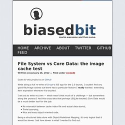 File System vs Core Data: the image cache test
