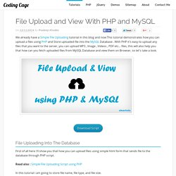File Upload and View With PHP and MySQL